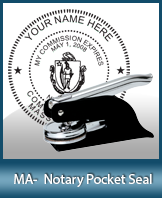 Massachusetts Notary Pocket Seal