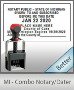 Michigan Notary Combination Date Stamp
