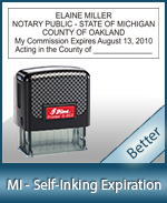 This durable, quality Notary commission stamp for Michigan is available right here. Fast shipping!