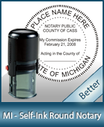 An affordable round self-inking notary stamp for Michigan can be purchased quickly right here.