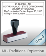 Michigan Notary Traditional Expiration Stamp