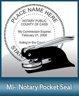 This Michigan notary seal is made to last. This quality, affordable notary embosser can be purchased right here.