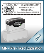 The Highest quality notary commission stamp for Minnesota