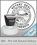 This High-quality Round Minnesota Notary stamp gives a clean, clear impression every time.