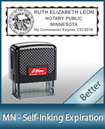 This durable, quality Notary commission stamp for Minnesota is available right here. Fast shipping!