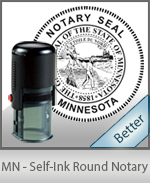 An affordable round self-inking notary stamp for Minnesota can be purchased quickly right here.