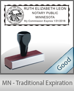 Minnesota Notary Traditional Expiration Stamp