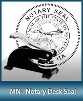 This sturdy Minnesota Notary Desk Seal is made of steel construction and built to last.