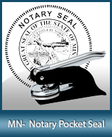 This Minnesota notary seal is made to last. This quality, affordable notary embosser can be purchased right here.