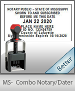 Mississippi Notary Combination Date Stamp