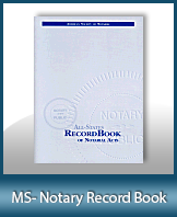 This Mississippi Notary Record Book, also known as a Notary Journal is an essential product for all notaries.