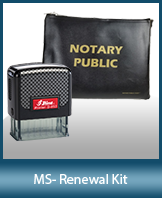 A notary supply kit designed for renewing notaries of Mississippi.