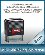 This durable, quality Notary commission stamp for Mississippi is available right here. Fast shipping!