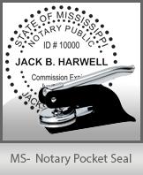 This Mississippi notary seal is made to last. This quality, affordable notary embosser can be purchased right here.