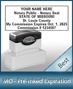 The Highest quality notary commission stamp for Missouri.