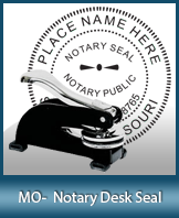 This sturdy Missouri Notary Desk Seal is made of steel construction and built to last.