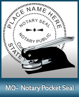 This Missouri notary seal is made to last. This quality, affordable notary embosser can be purchased right here.