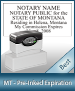 MT-COMM-XL115 - Montana Notary Pre-Inked Expiration Stamp