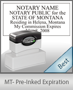 Montana Notary Pre-Inked Expiration Stamp