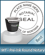 MT-XL535 - Montana Notary Pre-Inked Round Stamp