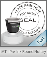 Montana Notary Pre-Inked Round Stamp