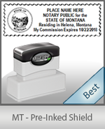 Montana Notary Pre-Inked Shield Stamp