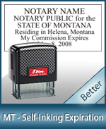 MT-COMM-S - Montana Notary Self-Inking Expiration Stamp