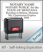 Montana Notary Self-Inking Expiration Stamp