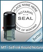 RND-MT - Montana Notary Self-Inking Round Stamp