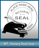 SMDSK-MT - Montana Notary Desk Seal