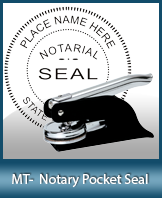 PKT-MT - Montana Notary Pocket Seal