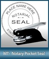 PKT-MT - Montana Notary Pocket Seal