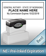 The Highest quality notary commission stamp for Nebraska.