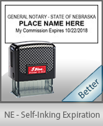 This durable, quality Notary commission stamp for Nebraska is available right here. Fast shipping!