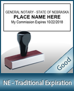 NE-COMM-T - Nebraska Notary Traditional Expiration Stamp