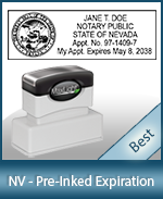The Highest quality notary commission stamp for Nevada.