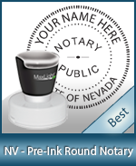 This High-quality Round Nevada Notary stamp gives a clean, clear impression every time.