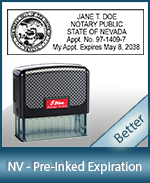 This durable, quality Notary commission stamp for Nevada is available right here. Fast shipping!