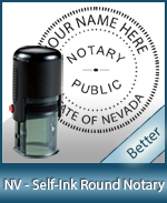 An affordable round self-inking notary stamp for Nevada can be purchased quickly right here.