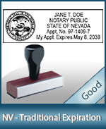 NV-COMM-T - Nevada Notary Traditional Expiration Stamp