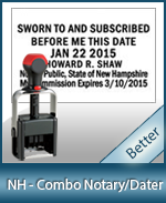 DATER-NH - New Hampshire Notary Combination Date Stamp