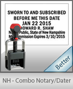 New Hampshire Notary Combination Date Stamp