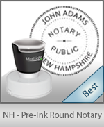 This High-quality Round New Hampshire Notary stamp gives a clean, clear impression every time.