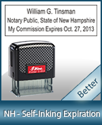 This durable, quality Notary commission stamp for New Hampshire is available right here. Fast shipping!