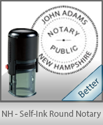 An affordable round self-inking notary stamp for New Hampshire can be purchased quickly right here.