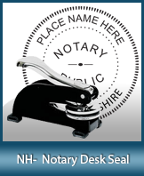 This sturdy New Hampshire Notary Desk Seal is made of steel construction and built to last.