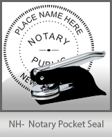 This New Hampshire notary seal is made to last. This quality, affordable notary embosser can be purchased right here.