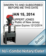 DATER-NJ - New Jersey Notary Combination Date Stamp