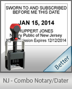 New Jersey Notary Combination Date Stamp