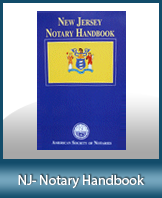 Order your NJ notary handbook today ad save. We also carry a huge selection of New Jersey Notary Supplies.